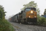 CSX train Q438 in the rain